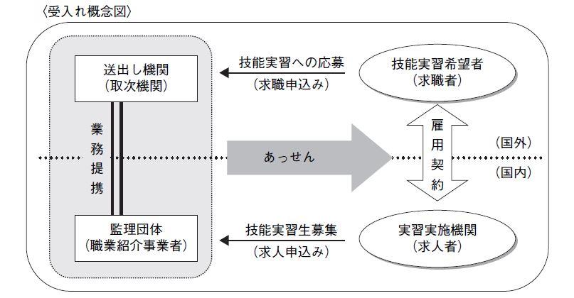団体監理型の受入図